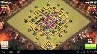 Clash of Clans - Jedi's 9 Lvl.3 Dragons Attack VS TH8 w/ 3 Lvl.4 Air Def.