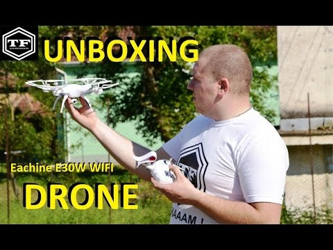 BANGGOOD - UNBOXING DRONE Eachine E30W WIFI - True Or False Experiments
