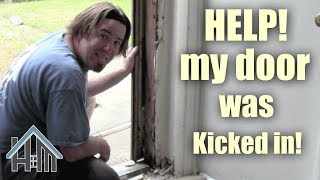 How to replace a door jamb, break in, kicked in! Easy! Home Mender Free HD Video