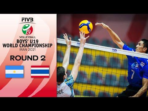 ARG vs. THA - Full Match   Eightfinals   Boys U19 World Champs 2021