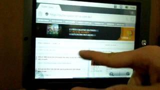 coby kyros 8024 review vdeo desempenho do sistema