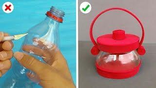 6 Increíbles Manualidades de Reciclaje con Botellas Plasticas - Ideas útiles y decorativas