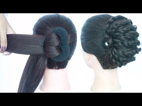 new latest messy juda hairstyle || trending hairstyles || hairstyle 2019 || new hairstyle for girls thumbnail