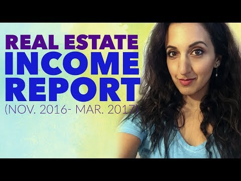 HOW MUCH DID I MAKE? - Real Estate Income Report: November 2016 - March 2017 | Afford Anything