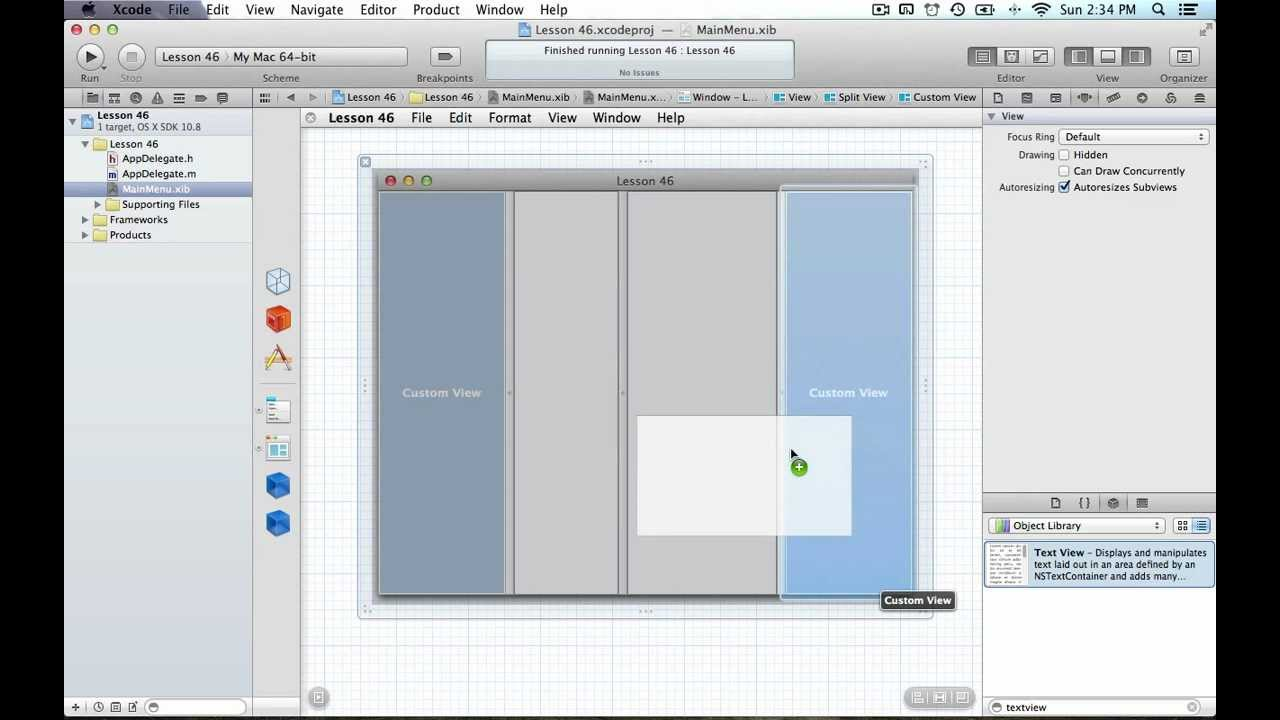 Drawing Line Xcode : Cocoa programming l46 nssplitview youtube