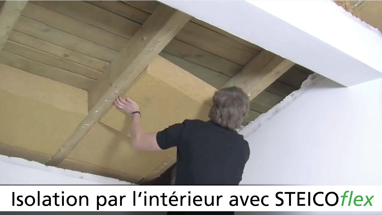 Isolation de toiture par l 39 int rieur youtube for Isolation interieur murs