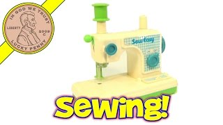 Vintage Romper Room Sew Easy Toy Sewing Machine, by Hasbro Toys 1980