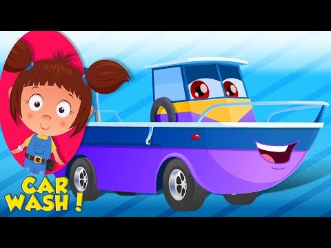 Amphibious Vehicle | Car Wash Videos | Cartoons For Babies by Kids Channel