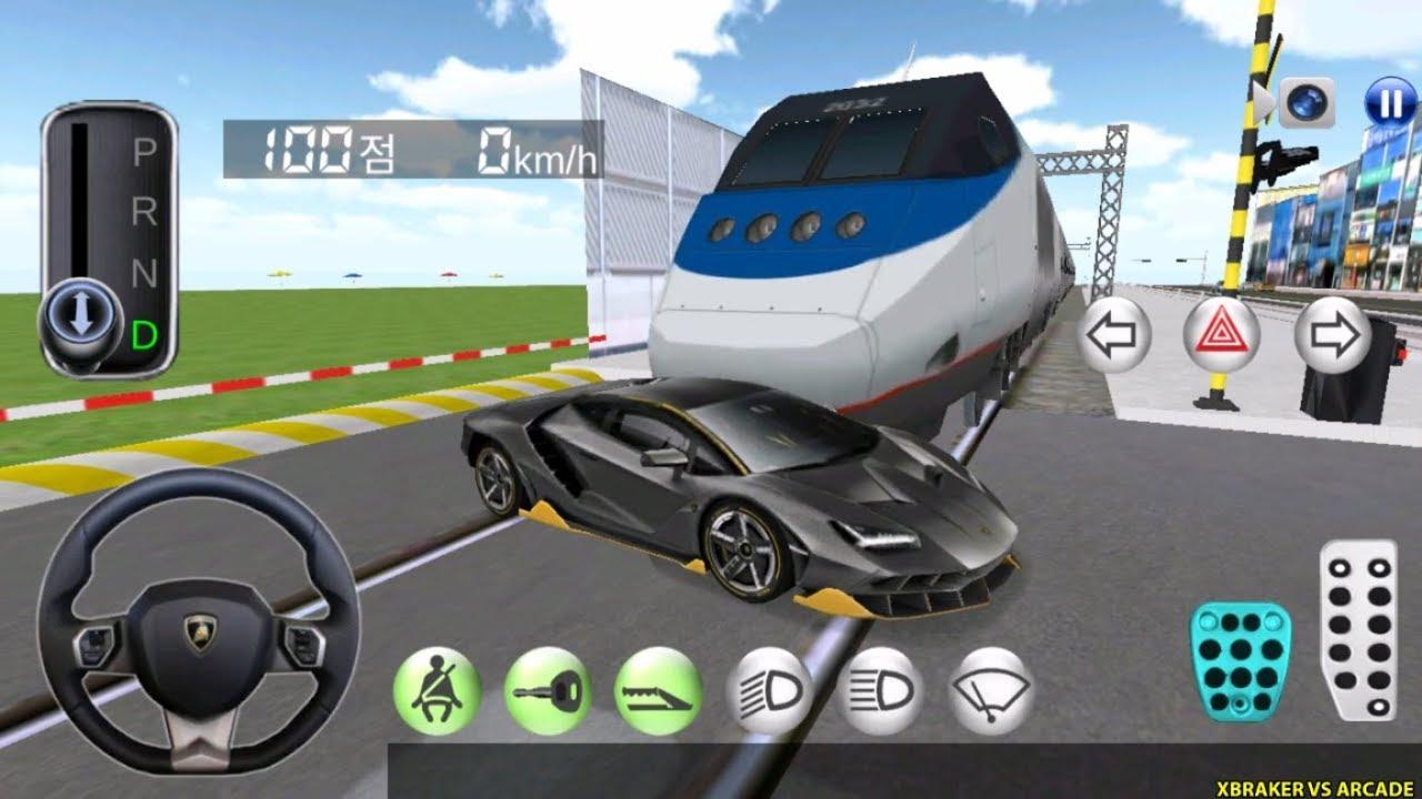 Korean Car Driving Simulator - New Car Unlocked #Lamborghini - Driver's License Examination Gam