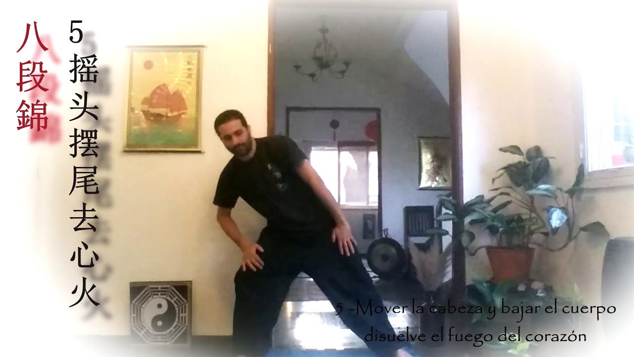 Chi Kung   Ba Dua Jin   八段錦   Ejercicio 5 - YouTube