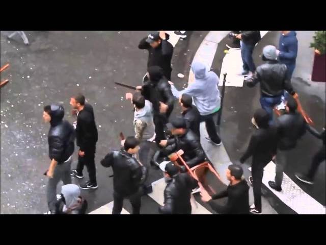 Jewish And Muslim Mobs Fight In Paris, France