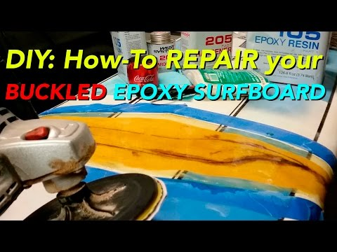 How to fix and repair a Buckled Epoxy #Surfboard #DIY pt1