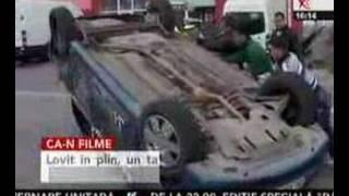 Accident ca-n filme la Galaţi
