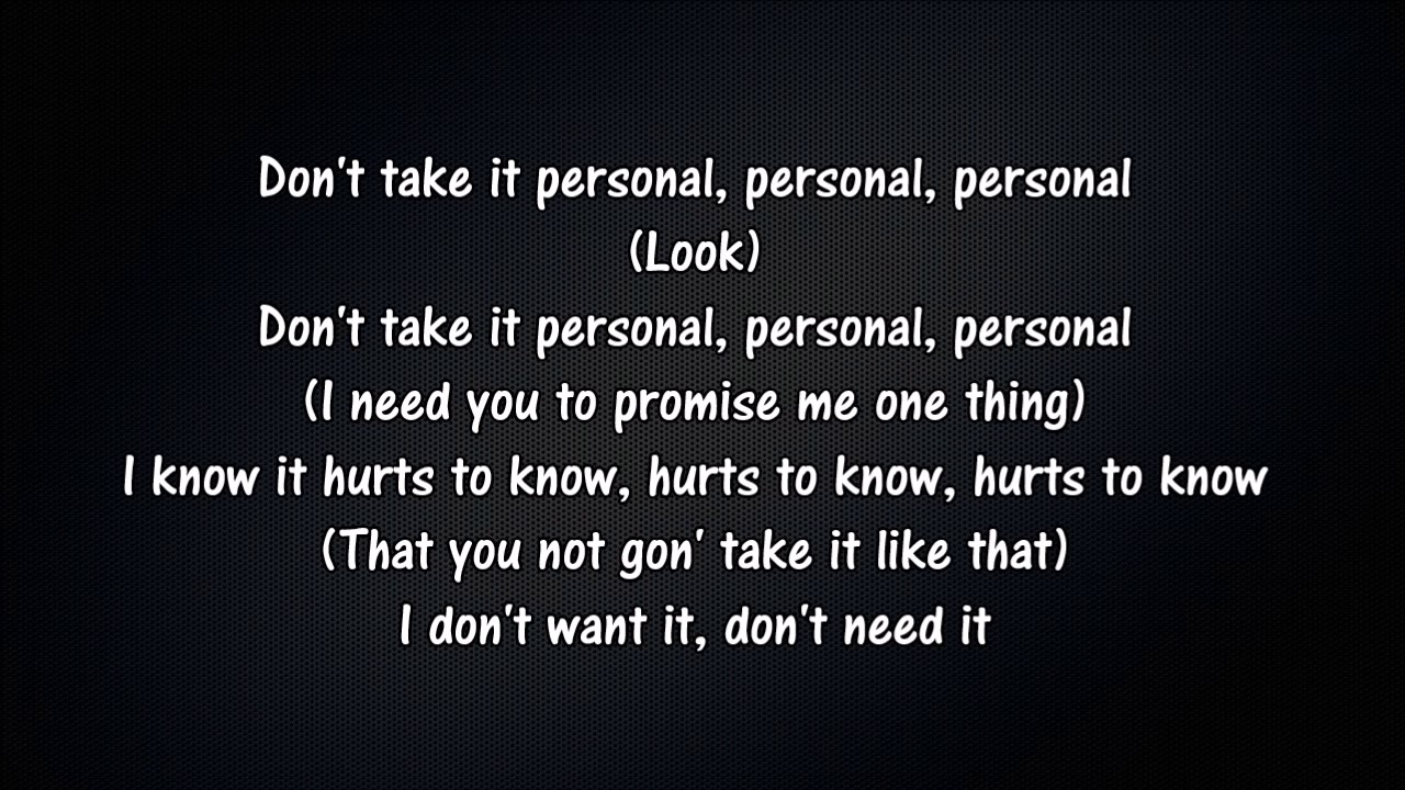 personal lyrics kehlani