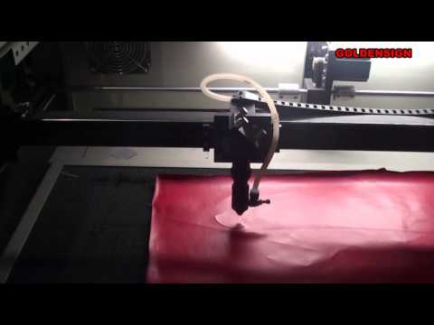 Artificial Leather Cutting Demonstration by GS 9060 laser machine