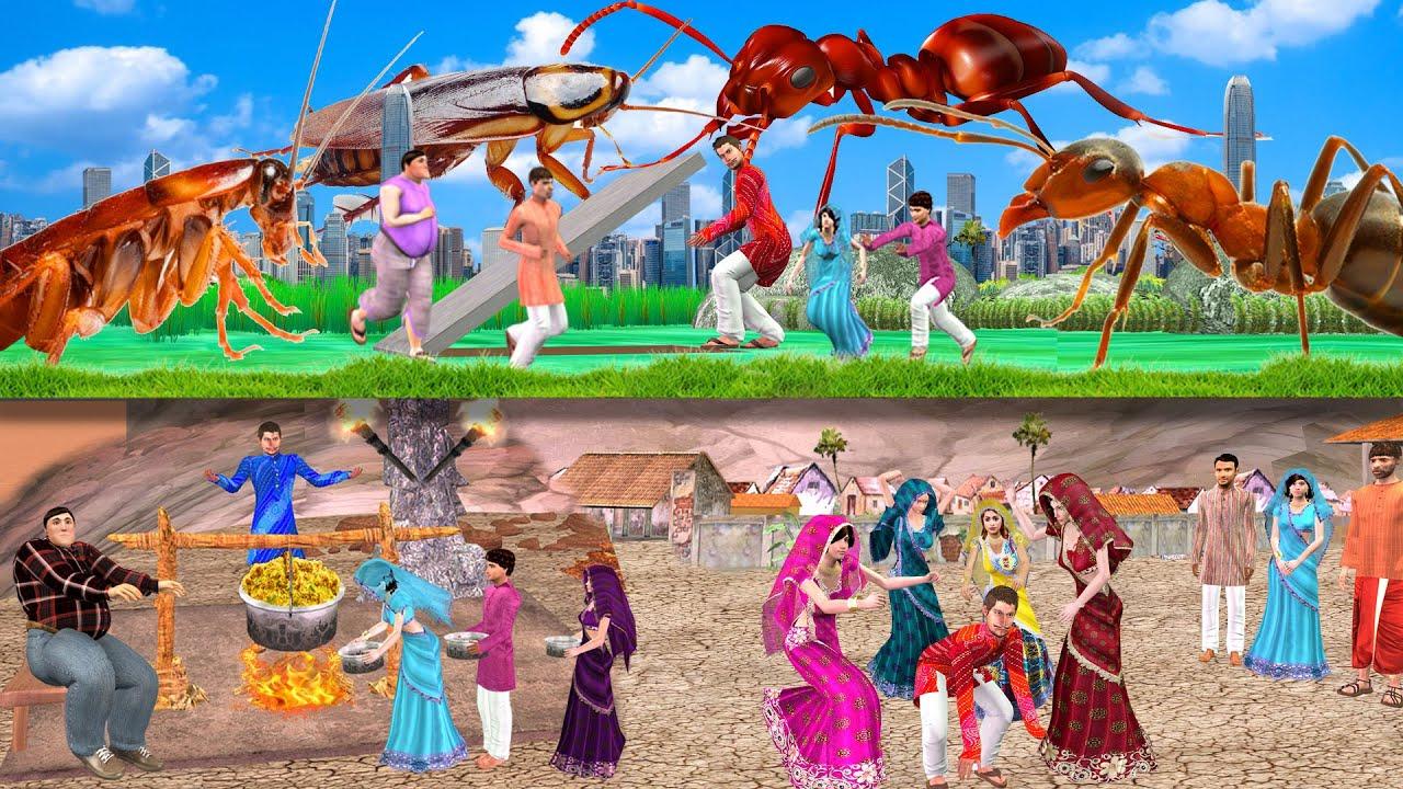 Download विशाल चींटी भूमिगत गाँव GIANT ANT UNGERGROUND VILLAGE हिंदी कहानिया Hindi Kahaniya Comedy Video