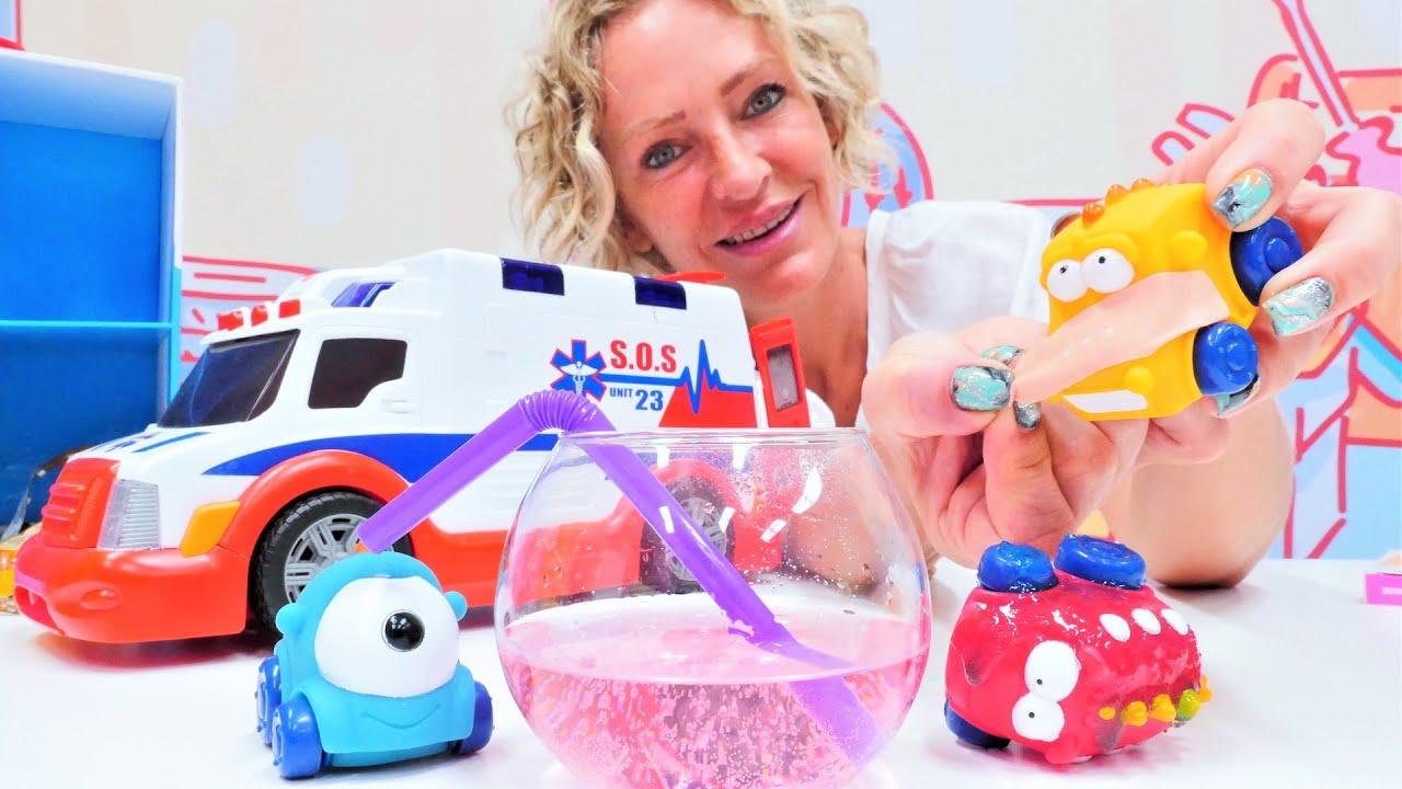 Spielspaß mit Nicole - Die Monster Autos brauchen Hilfe - Spielzeugvideo für Kinder