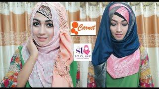 2 Gorgeous Eid Hijab Tutorial | Pari ZaaD ❤