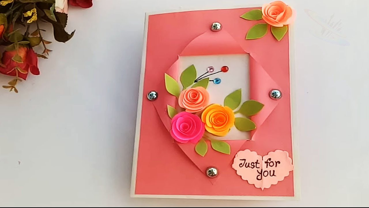 Beautiful Handmade Birthday Card Idea Mukta Art Craft
