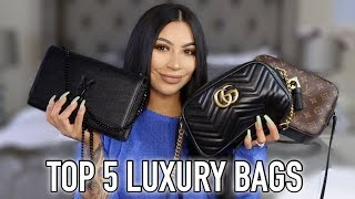TOP 5 LUXURY BAGS + HUGE GIVEAWAY || EVETTEXO