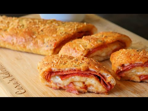 Easy Homemade Stromboli with 2 Ingredient Pizza Dough