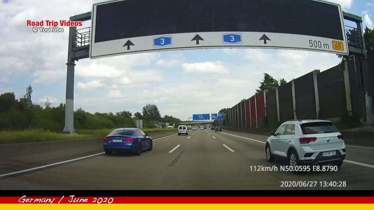 driving from Frankfurt am Main to Babenhausen and back / ROAD TRIP