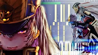 Re:CREATORS Opening『gravityWall』Piano Tutorial『レクリエイターズ』ピアノ