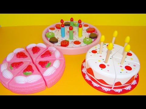 Toy Cutting Velcro Cakes Birthday Cake Wooden Plastic Toys