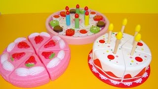 Toy Cutting Velcro Cakes Birthday Cake Wooden Plastic Toys For Kids Toy Strawberry Cream Cake Asmr
