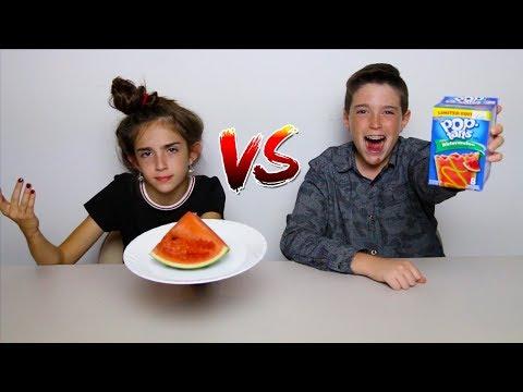 POP TARTS vs REAL FOOD!!