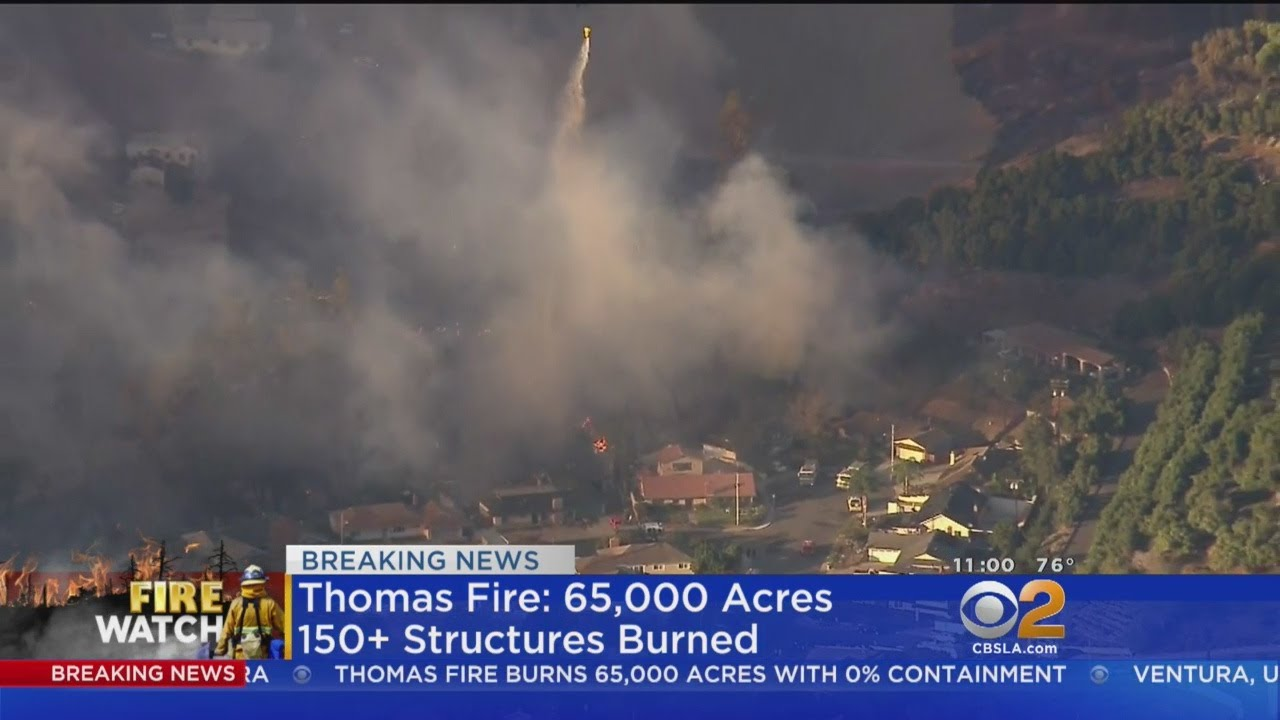 Thomas Fire Burns 65K Acres