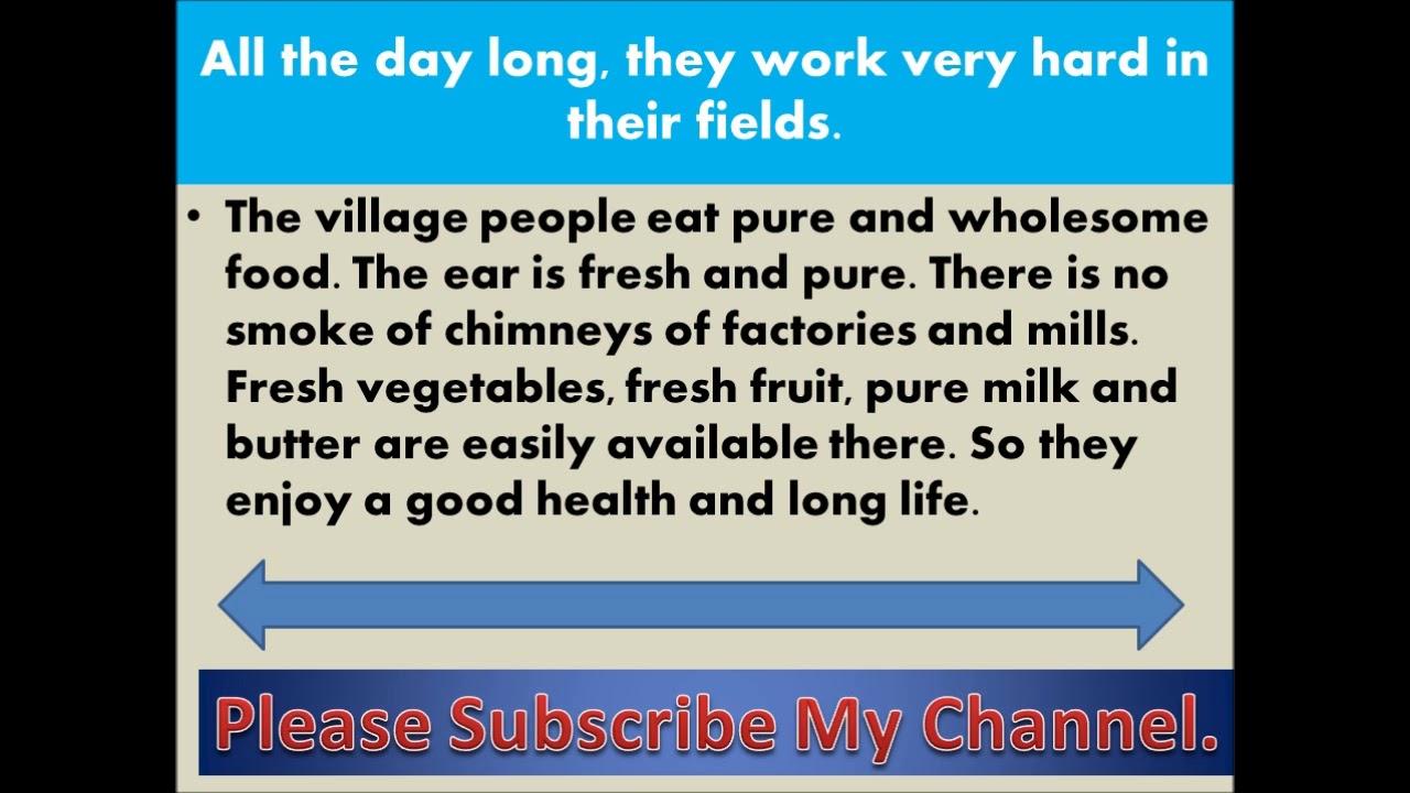essay on rural life in pakistan