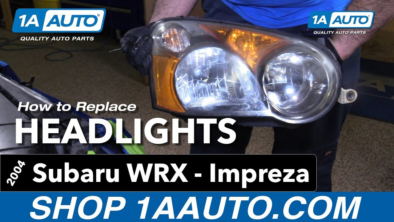How To Replace Install Headlights 2004 Subaru Impreza WRX. 1A Auto Parts