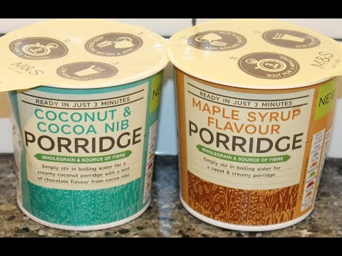 M&S Porridge: Coconut & Cocoa Nib and Maple Syrup Flavour Review
