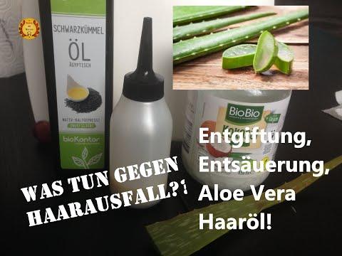 Was tun gegen Haarausfall? Selbst gemachtes Aloe Vera Haaröl!