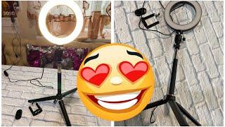 Покупка с AliExpress кольцевая лампа обзор покупки