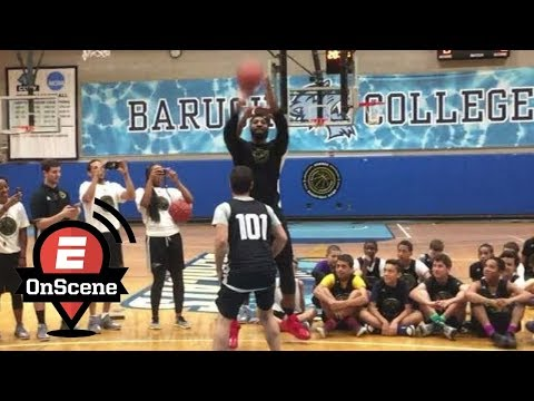 Andre Drummond Nearly Loses 1-On-1 To 'The Hangover' Actor Justin Bartha | OnScene | ESPN