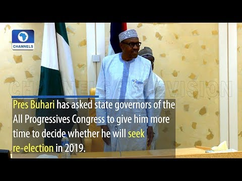Buhari Asks APC Governors For More Time To Decide On Re Election