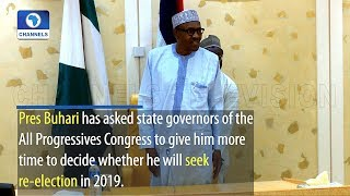 Buhari Asks APC Governors For More Time To Decide On Re Election thumbnail