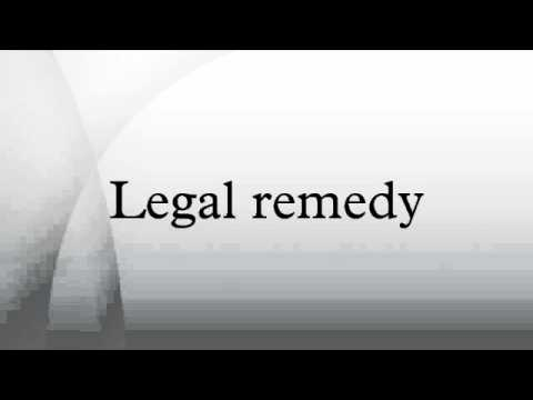 Legal remedy