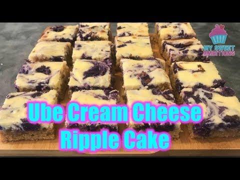 Ube Cream Cheese Ripple Cake - Mysweetambitions