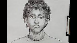 how to draw and painting khudiram bosu step by step