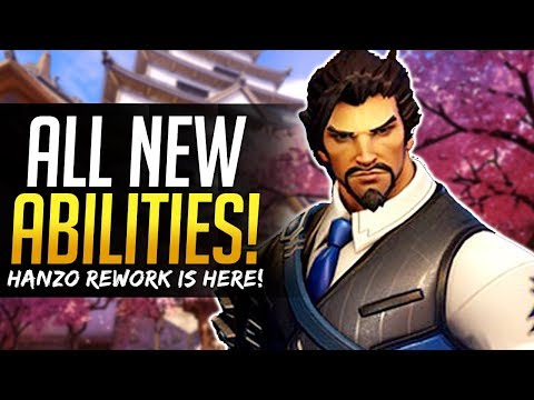 Overwatch HANZO REWORK - ALL NEW ABILITIES FULL BREAKDOWN