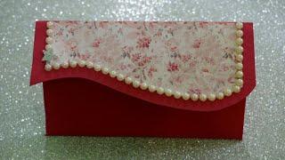 How to make Paper Envelope   #Super_Easy Designer Gift Shagun Envelope /Envelope Making #PaperCraft