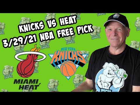 New York Knicks vs Miami Heat 3/29/21 Free NBA Pick and Prediction NBA Betting Tips