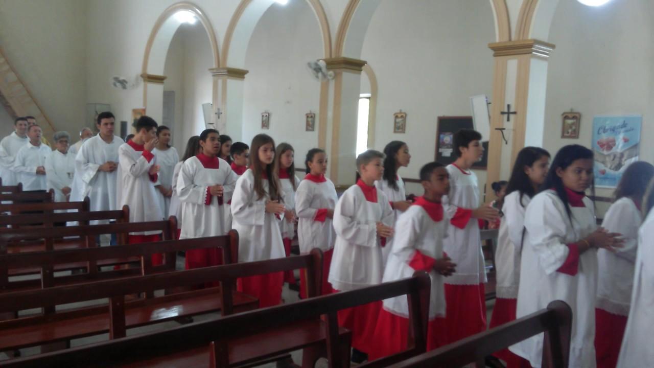 I Formação Dos Coroinhas: Procissão De Entrada Da Missa Do Primeiro Encontro De