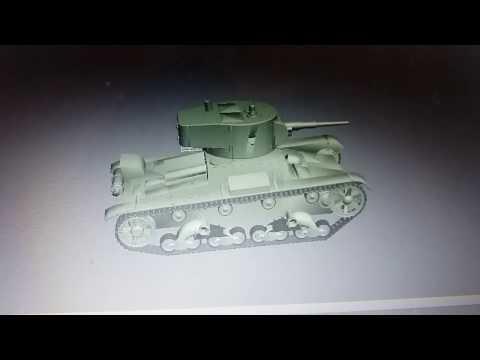 3D модель танка Т-26