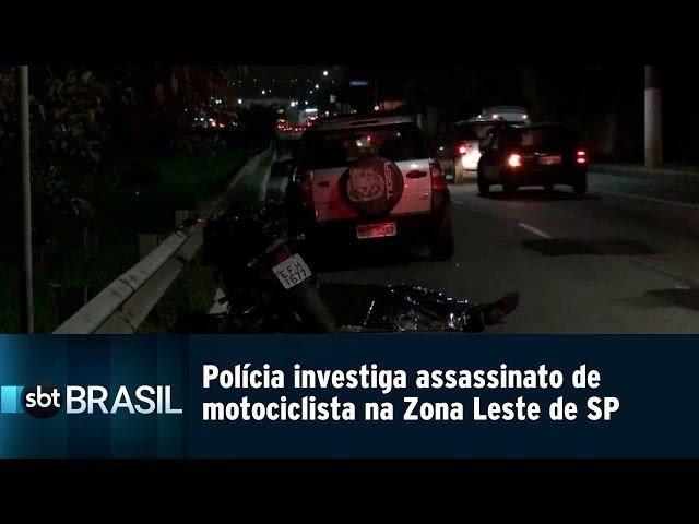 Polícia investiga assassinato de motociclista na Zona Leste de São Paulo | SBT Brasil (02/03/19)