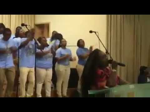 Apostle Stacey Woods with Southern University Gospel Choir
