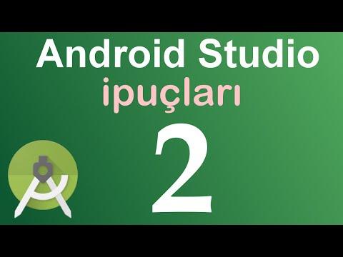 Android Studio İpuçları - 2.Satır Numaraları Ve Kısayollar